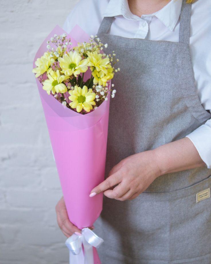 Букет из хризантемы кустовой