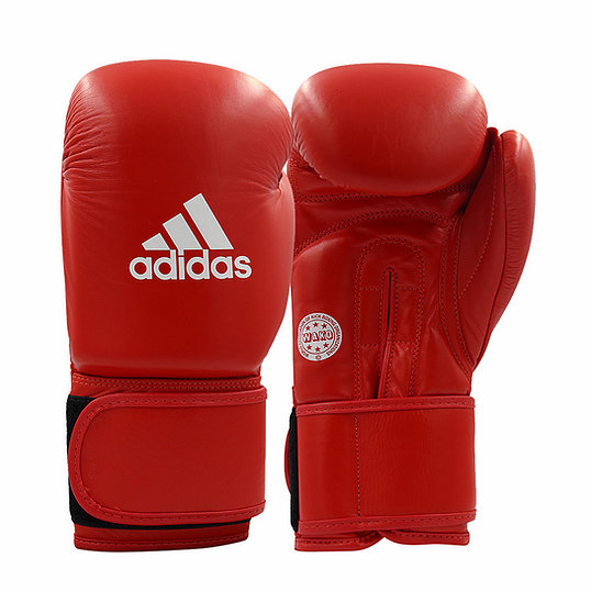 Перчатки для кикбоксинга ADIDAS WAKO Kickboxing Training Glove красные, 10 унц.,  артикул adiWAKOG2