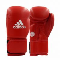 Перчатки для кикбоксинга ADIDAS WAKO Kickboxing Competition Glove красные, 10 унц.,  артикул adiWAKOG1