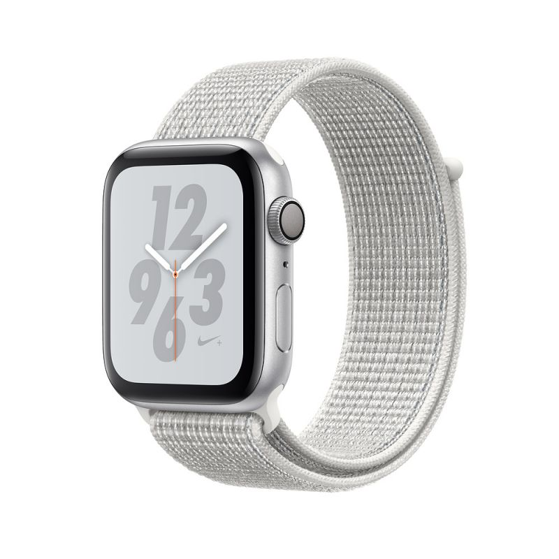 Apple Watch Nike+ Series 4 44mm (GPS) Silver Aluminum Case with Summit White Nike Sport Loop (MU7H2)