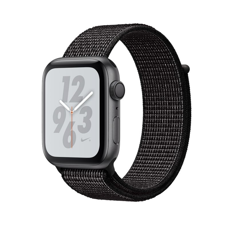 Apple Watch Nike+ Series 4 40mm (GPS) Space Gray Aluminum Case with Black Nike Sport Loop (MU7G2)