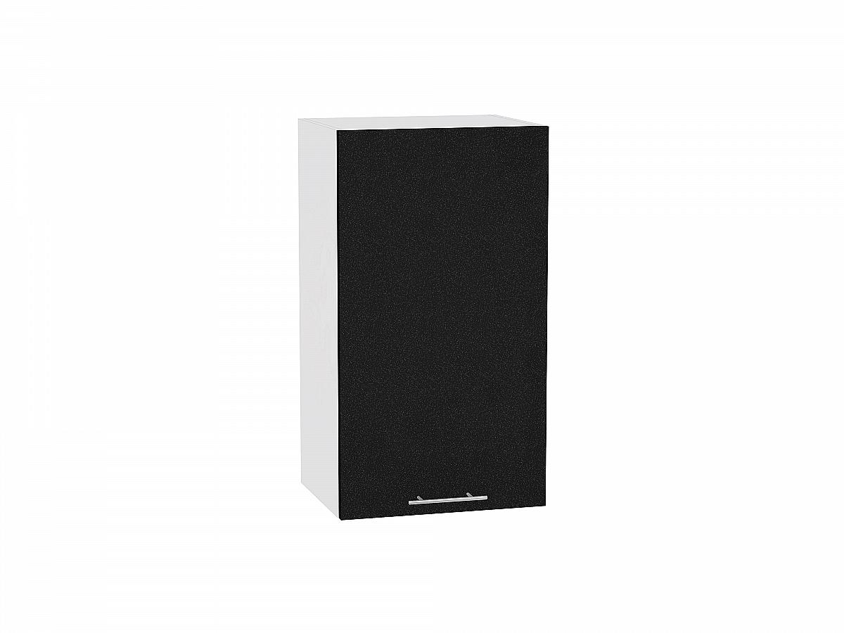 Шкаф верхний Валерия В400 (чёрный металлик)