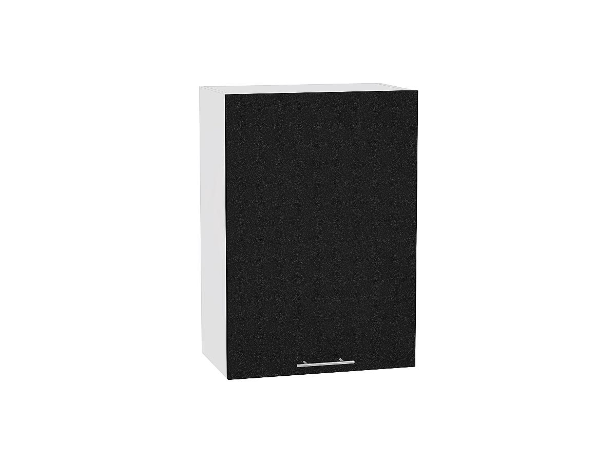 Шкаф верхний Валерия В500 (чёрный металлик)