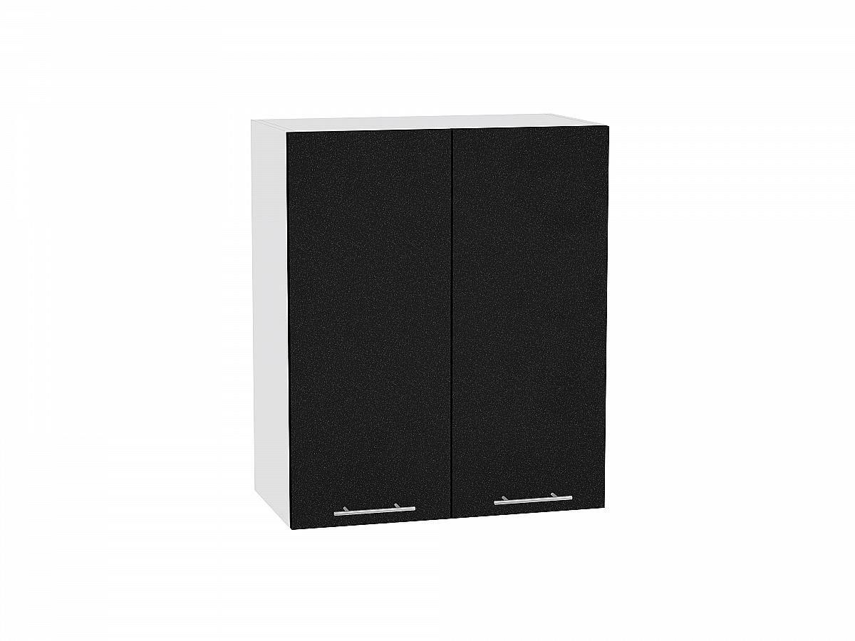 Шкаф верхний Валерия В600 (чёрный металлик)