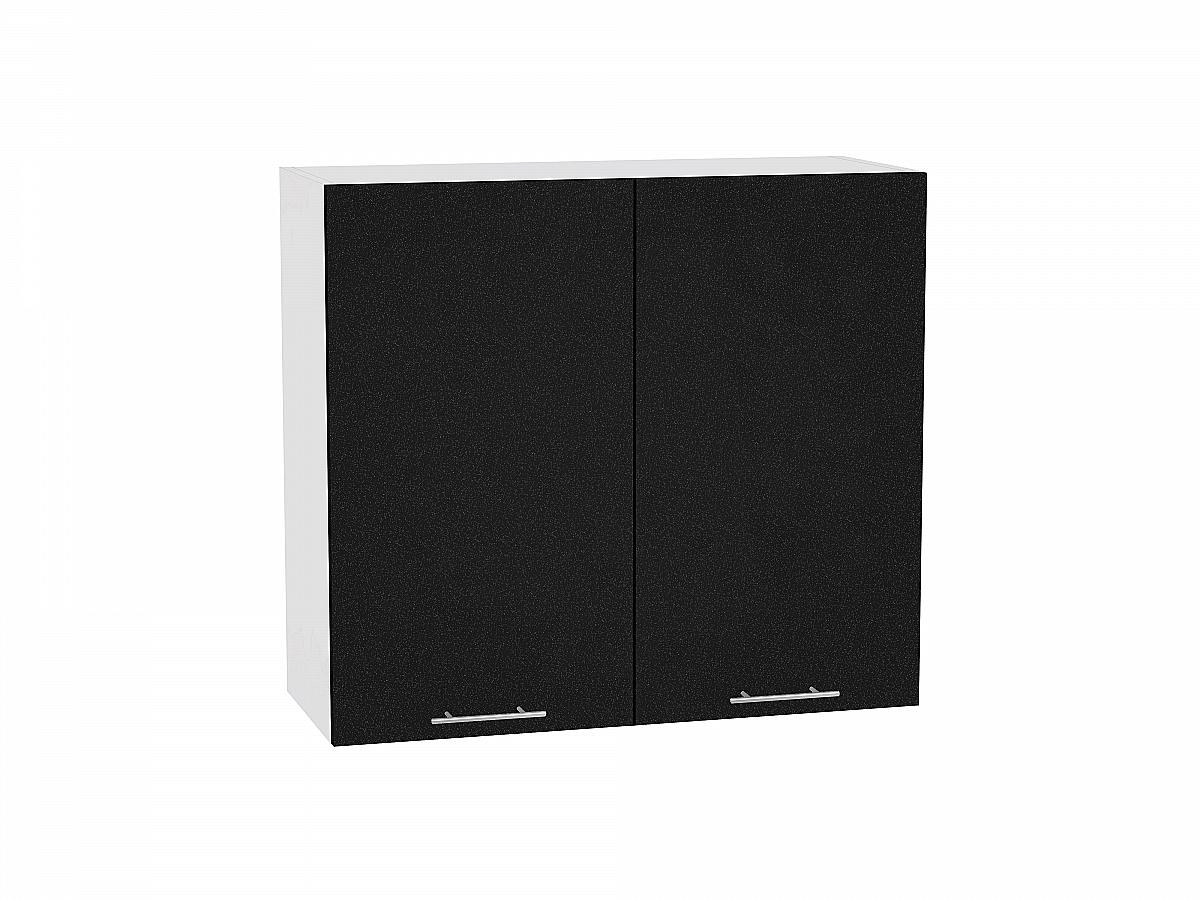 Шкаф верхний Валерия В800 (чёрный металлик)