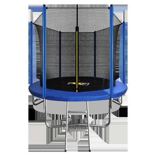 Батут Arland 8FT с внутренней страховочной сеткой и лестницей (Blue)