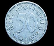 Германия 50 пфеннингов 1940 Третий Рейх, отличные