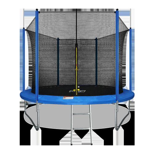 Батут Arland 10FT с внутренней страховочной сеткой и лестницей (Blue)