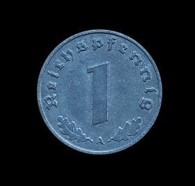 Германия 1 пфеннинг 1941-1942гг Третий Рейх, отличные