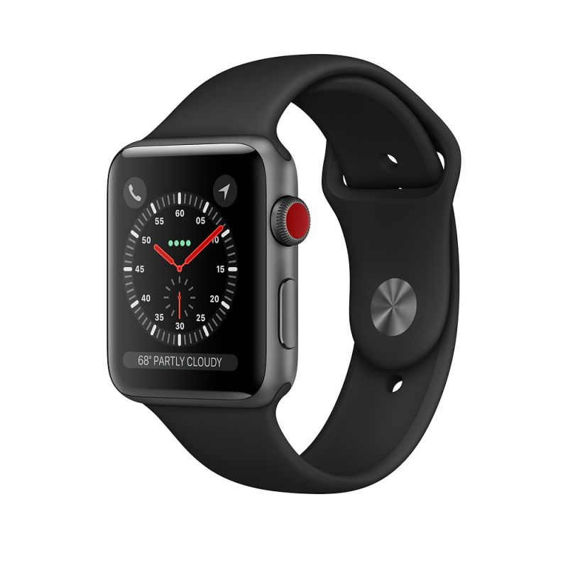 Apple Watch Series 3 42mm Cellular Space Black Stainless Steel Case with Space Black Milanese Loop (MR1L2)