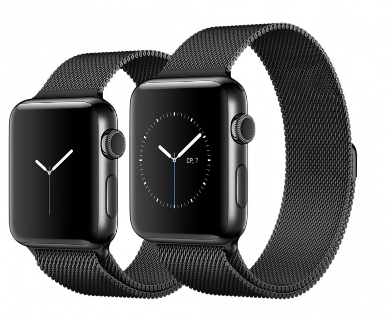 Apple Watch Series 3 38mm Cellular Stainless Steel Case with Stainless Steel Milanese Loop (MR1F2)