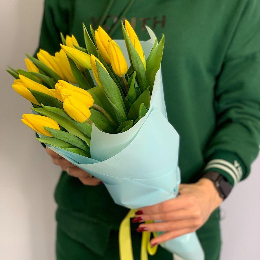 Тюльпаны 25 шт (желтый)