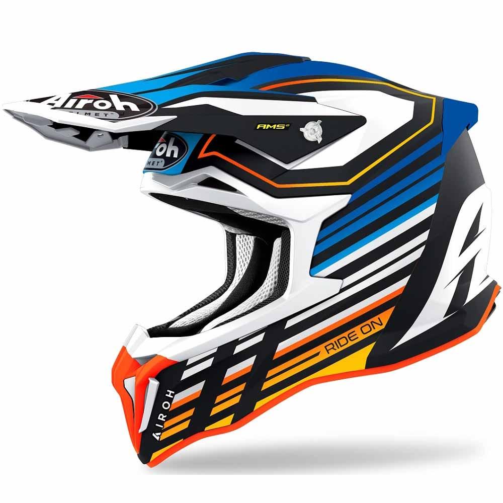 Airoh Strycker Blue Matt Shaded шлем для мотокросса и эндуро