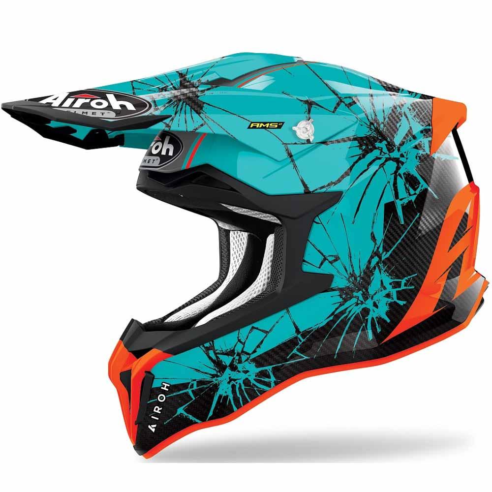 Airoh Strycker Crack Gloss шлем для мотокросса и эндуро