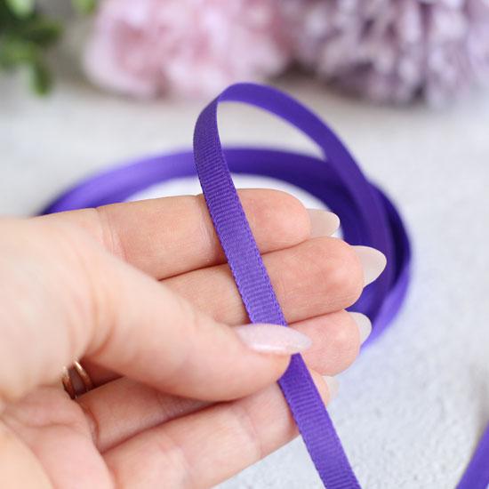 Лента репсовая 6 мм для творчества Фиолетовая
