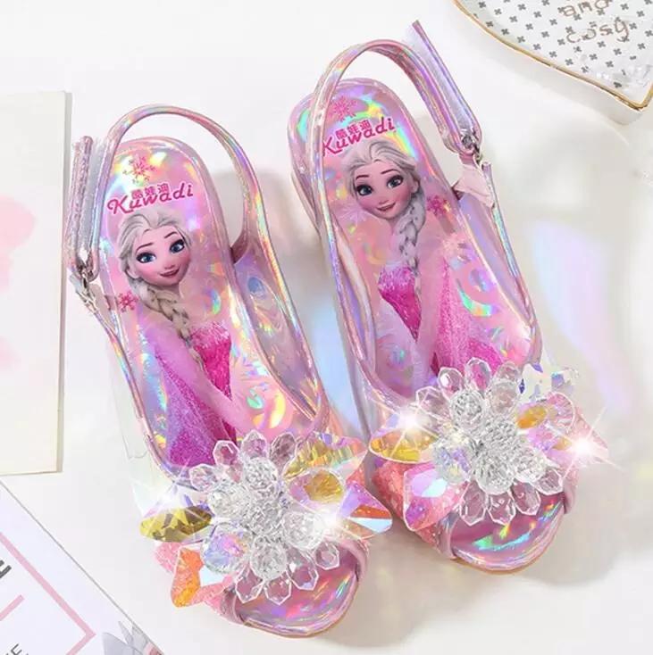 Туфли босоножки Эльзы из мультфильма  Холодное сердце розовые