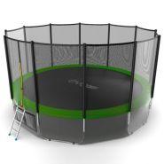Батут EVO jump 16 ft External (Green) + Lower net.