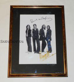 Автографы: Пол Маккартни, Ринго Старр. The Beatles