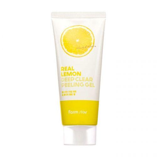 Пилинг-скатка для лица FarmStay Real Lemon Deep Clear Peeling Gel