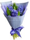 Букет из синих гиацинтов