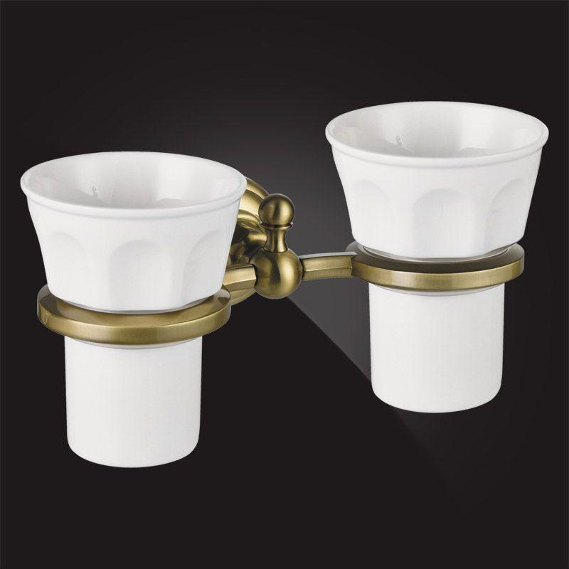 Стакан для ванной двойной Elghansa Praktic PRK-421 Bronze