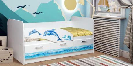 Кровать одинарная 06.222 (1600) (Дельфин)