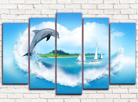 Модульная картина Дельфин