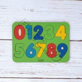 Вкладыш деревянный Изучаем цифры, дерев.крашен., в асс-те 22051