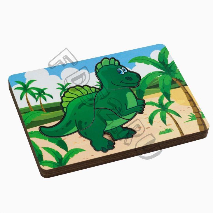 Вкладыш многослойный динозаврик 221198
