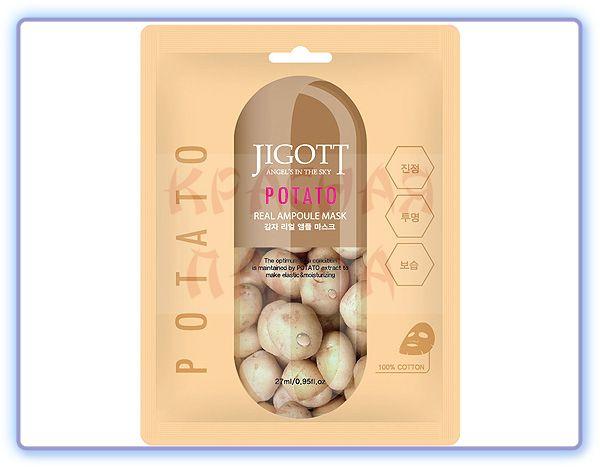 Маска тканевая ампульная с экстрактом картофеля Jigott Potato Real Ampoule Mask