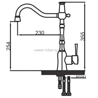 Смеситель для кухни с выходом под фильтр Faop A4398-4
