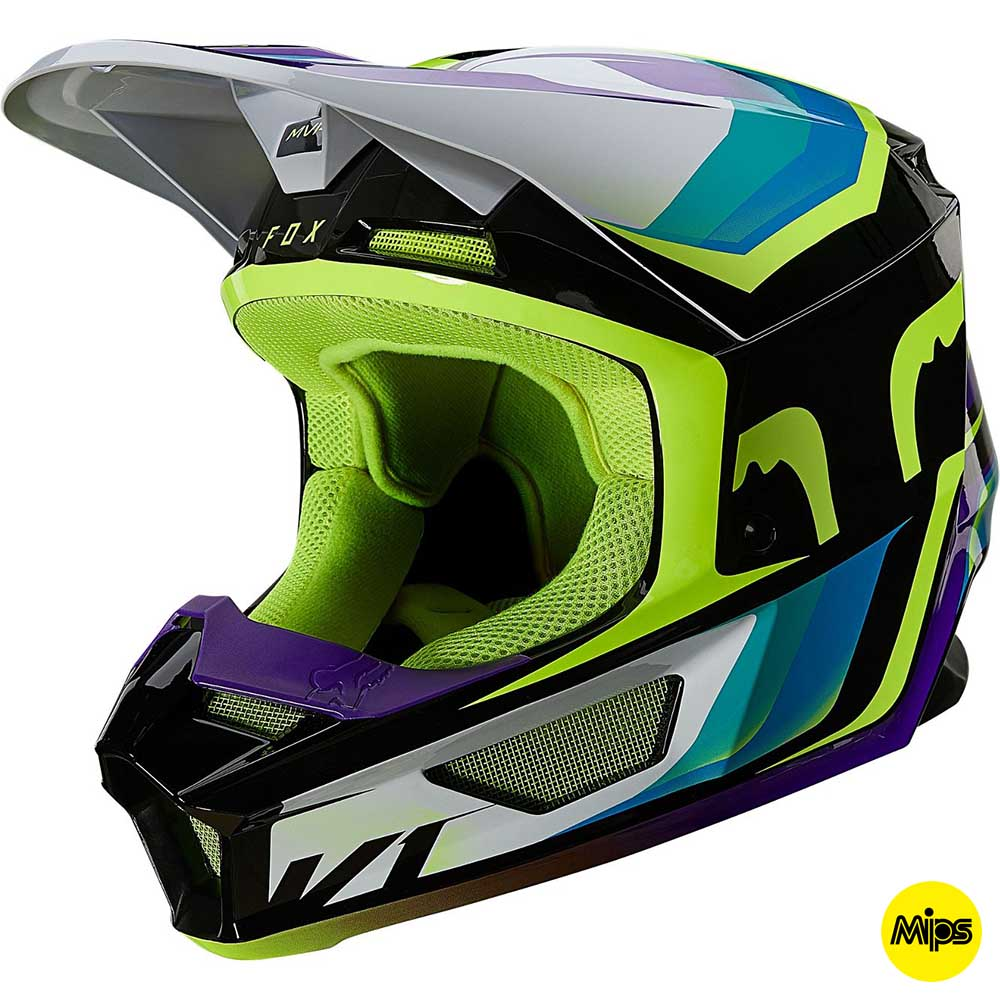 Fox V1 Tro Aqua шлем внедорожный