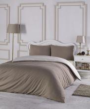 Комплект постельного белья трикотажный  SOFA (кофейный-кремовый) евро   Арт.2988-11
