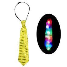 Светящийся карнавальный галстук, Жёлтый