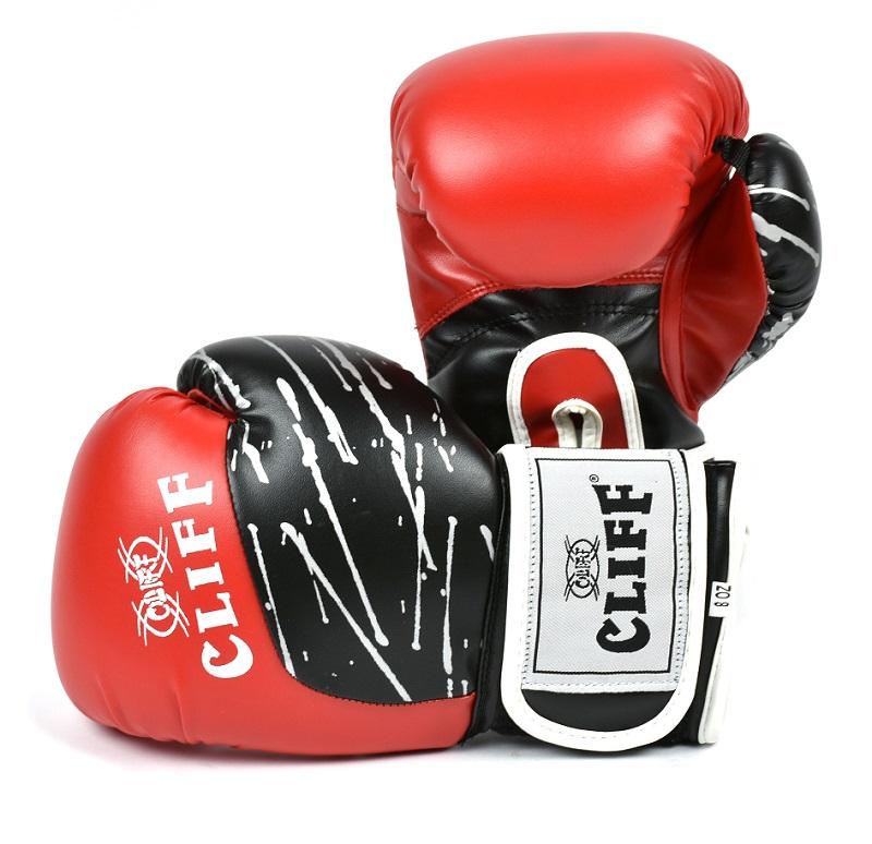 Перчатки боксерские CLIFF, PRO STAR (DX)  12 oz красные