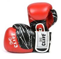Перчатки боксерские CLIFF, PRO STAR (DX)  6 oz красные