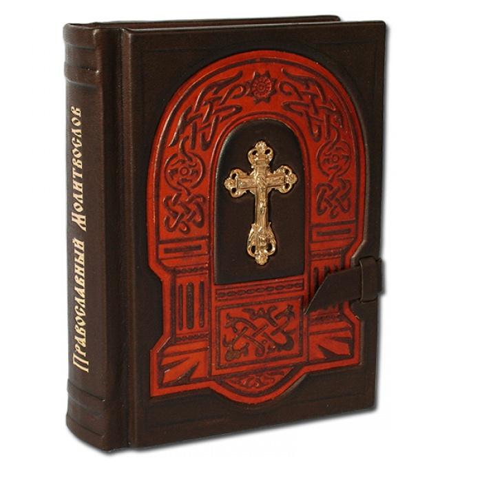 Православный молитвослов с филигранью ручной с красным обрамлением