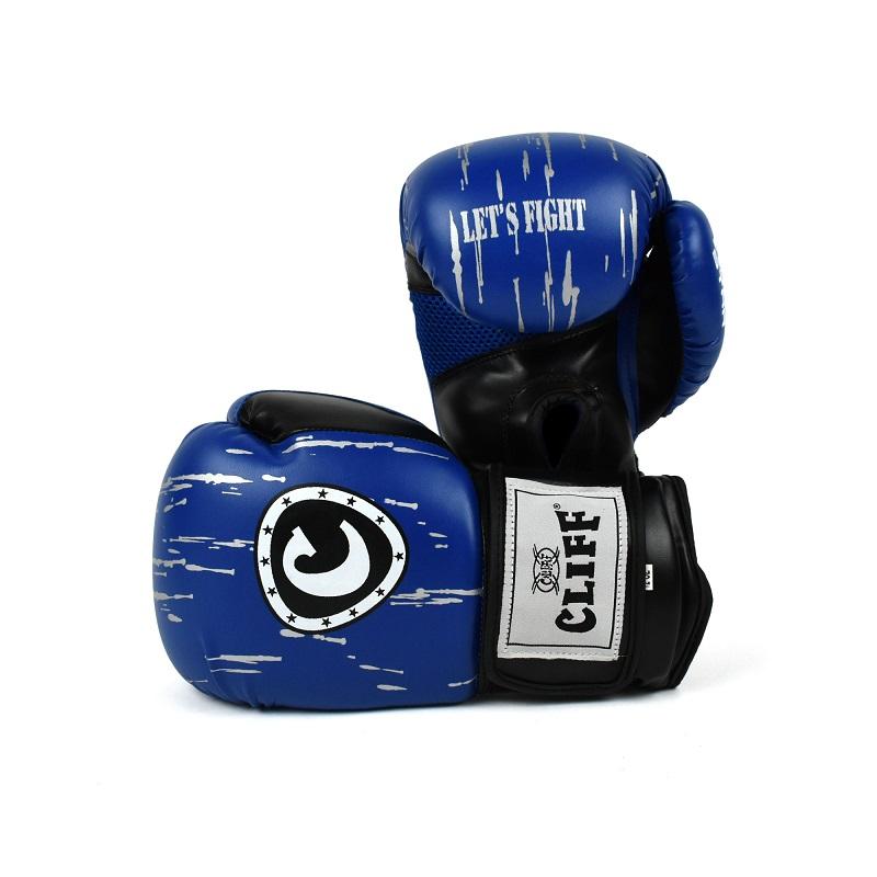 Перчатки боксерские CLIFF, FIGHT STAR (DX) 14 oz синие