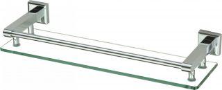 Полка прямая стеклянная 40 см Savol S-409591 хром