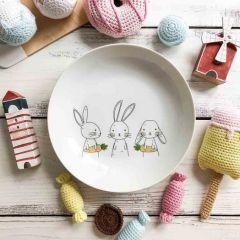 Тарелка глубокая Bunny Sans Brides 20 см фарфор