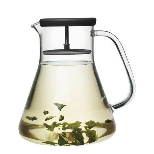 Чайник стеклянный Dancing Leaf чёрный