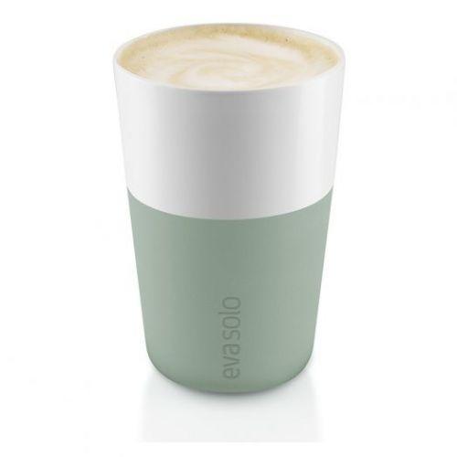 Чашки для латте 2 шт 360 мл светло-зеленый