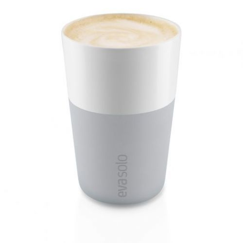 Чашки для латте 2 шт 360 мл серые