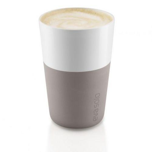 Чашки для латте 2 шт пурпурно-серый