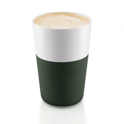 Чашки для латте 2 шт. тёмно-зелёные