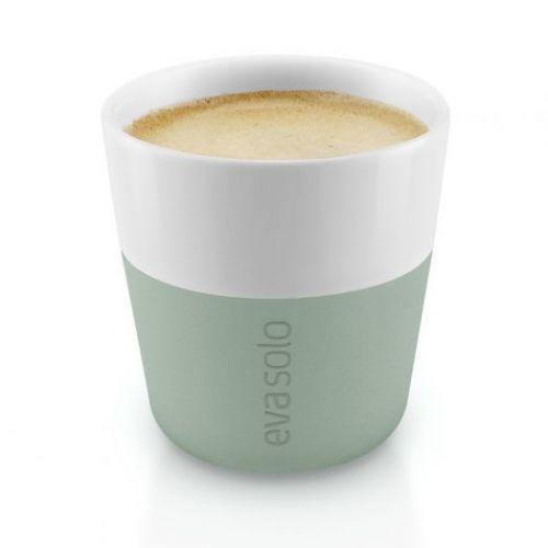 Чашки для эспрессо 2 шт 80 мл светло-зеленый