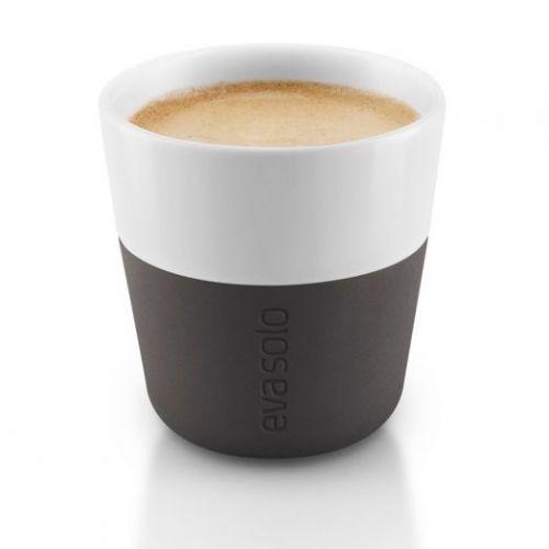 Чашки для эспрессо 2 шт 80 мл чёрные