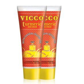 """Крем с куркумой и сандаловым маслом """"Викко""""(Vicco Turmerik skin cream), 30 гр"""