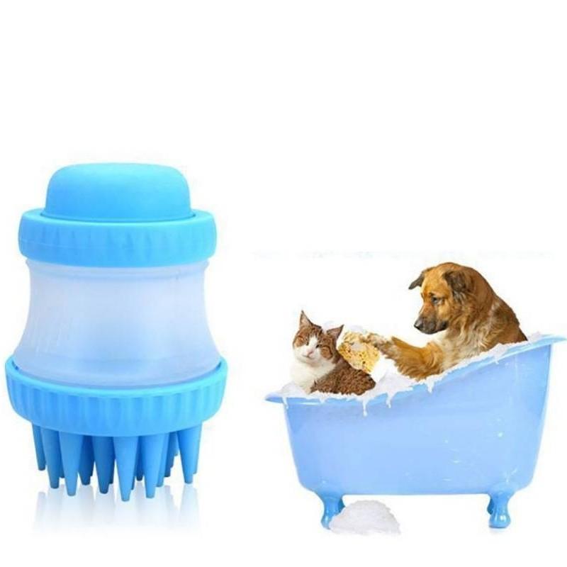 Щетка для животных Cleaning Device The Gentle Dog Washer, Голубая