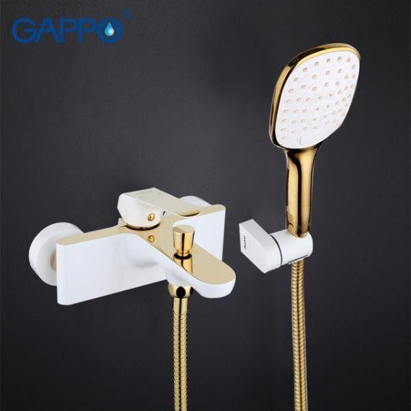 Смеситель для ванны Gappo G3080 белый/золото
